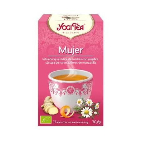 MUJER Infusión BIO 17ud YOGI TEA Plantas Medicinales 3,33€