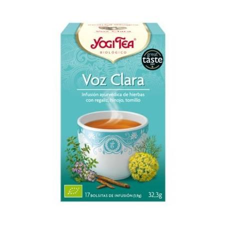 VOZ CLARA Infusión BIO 17ud YOGI TEA Plantas Medicinales 3,33€