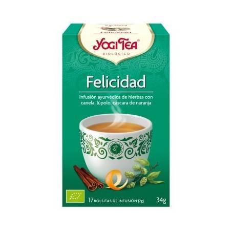 FELICIDAD Infusión BIO 17ud YOGI TEA Plantas Medicinales 3,33€