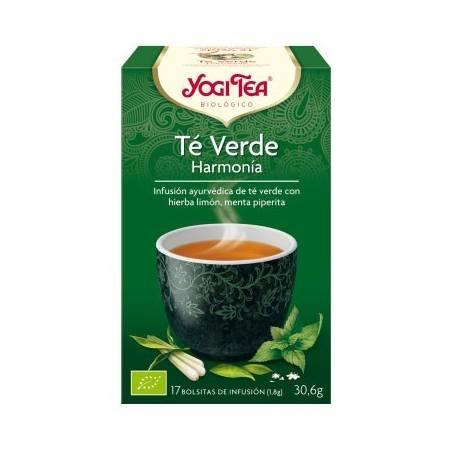 TE VERDE HARMONIA Infusión BIO 17ud YOGI TEA Plantas Medicinales 3,33€