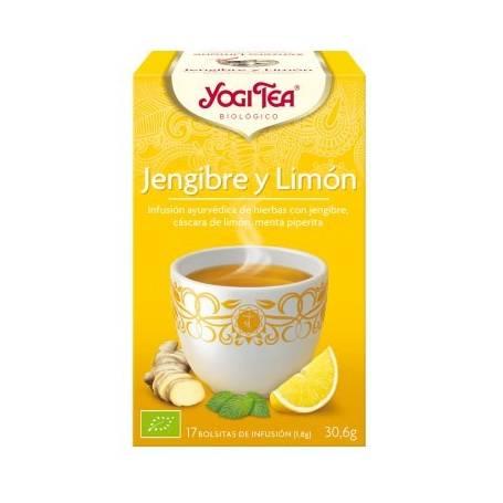 JENGIBRE Y LIMON Infusión BIO 17ud YOGI TEA Plantas Medicinales 3,33€