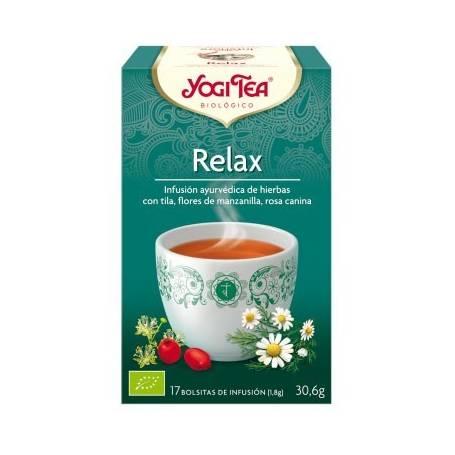 RELAX Infusión BIO 17ud YOGI TEA Plantas Medicinales 3,33€