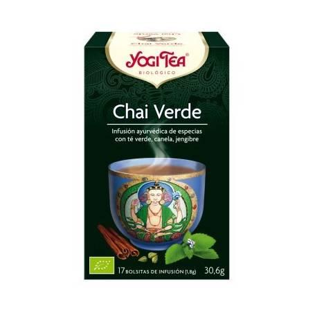 CHAI VERDE Infusión BIO 17ud YOGI TEA Plantas Medicinales 3,33€