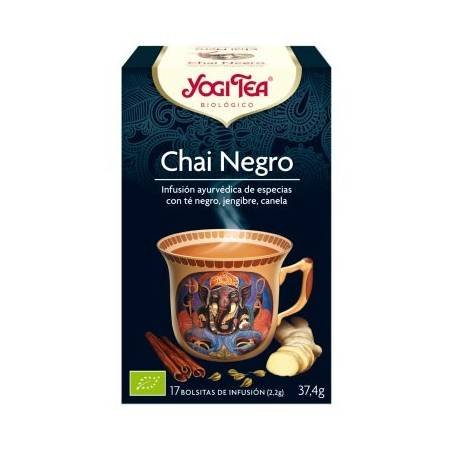 CHAI NEGRO Infusión BIO 17ud YOGI TEA Plantas Medicinales 3,33€
