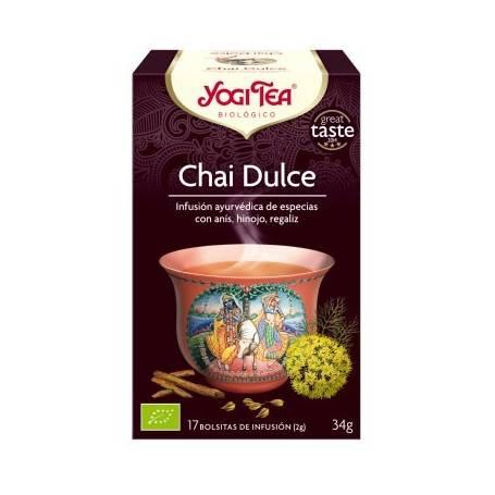 CHAI DULCE Infusión BIO 17ud YOGI TEA Plantas Medicinales 3,33€