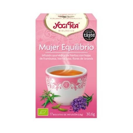 MUJER EQUILIBRIO Infusión BIO 17ud YOGI TEA Plantas Medicinales 3,33€