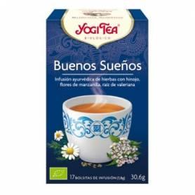 BUENOS SUEÑOS Infusión BIO 17ud YOGI TEA Plantas Medicinales 3,33€