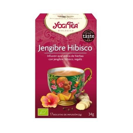 JENGIBRE HIBISCO Infusión BIO 17ud YOGI TEA Plantas Medicinales 3,33€