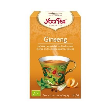 GINSENG Infusión BIO 17ud YOGI TEA Plantas Medicinales 3,33€