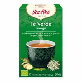 TE VERDE ENERGIA Infusión BIO 17ud YOGI TEA Plantas Medicinales 3,35€