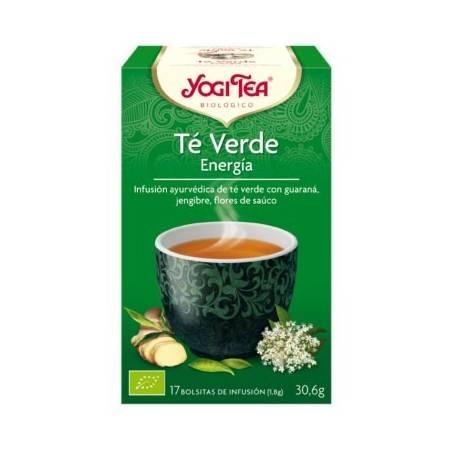 TE VERDE ENERGIA Infusión BIO 17ud YOGI TEA Plantas Medicinales 3,33€