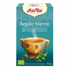 REGALIZ MENTA Infusión BIO 17ud YOGI TEA Plantas Medicinales 3,33€