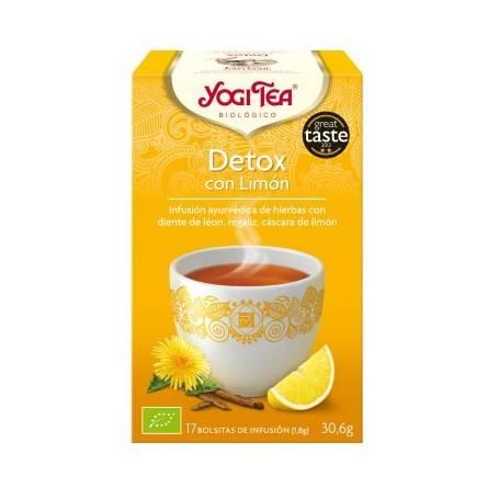 DETOX CON LIMON Infusión BIO 17ud YOGI TEA Plantas Medicinales 3,33€