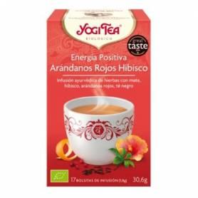 ENERGIA POSITIVA ARANDANOS ROJOS HIBISCO Infusión BIO 17ud YOGI TEA Plantas Medicinales 3,33€