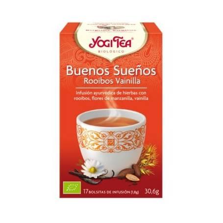 BUENOS SUEÑOS ROOIBOS VAINILLA Infusión BIO 17ud YOGI TEA Plantas Medicinales 3,33€