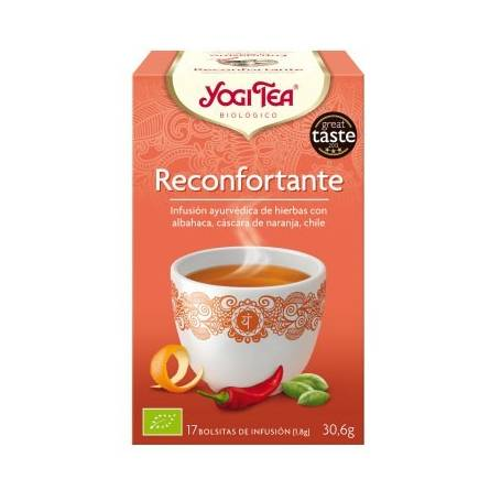 RECONFORTANTE Infusión BIO 17ud YOGI TEA Plantas Medicinales 3,33€