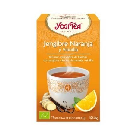 JENGIBRE NARANJA Y VAINILLA Infusión BIO 17ud YOGI TEA Plantas Medicinales 3,33€