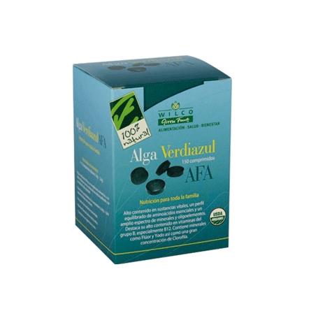 ALGA VERDIAZUL AFA 150comp CIEN POR CIEN NATURAL Plantas Medicinales 40,94€