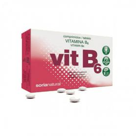 VITAMINA B6 RETARD 48comp SORIA NATURAL Suplementos nutricionales 5,80€