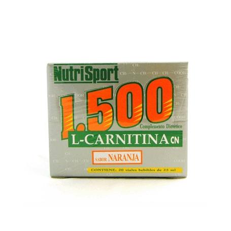 CARNITINA 1500MG NARANJA 25ml NUTRI SPORT Nutrición Deportiva 1,88€