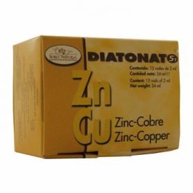 DIATONATO 5/1 - ZINC-COBRE 12amp SORIA NATURAL Suplementos nutricionales 12,98€
