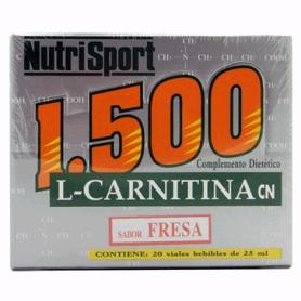 CARNITINA 1500MG FRESA 20amp NUTRI SPORT