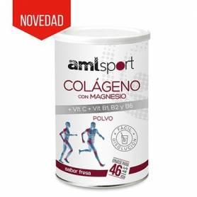 COLAGENO CON MAGNESIO + VIT C + B1 B2 y B6 POLVO 350g AMLSPORT Nutrición Deportiva 15,50€