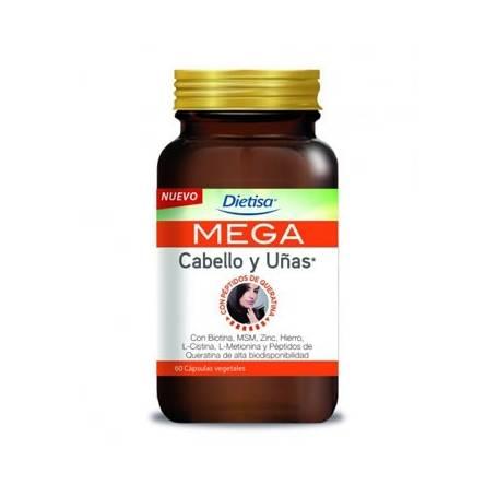 MEGA CABELLO Y UÑAS 60cap DIETISA Suplementos nutricionales 19,25€