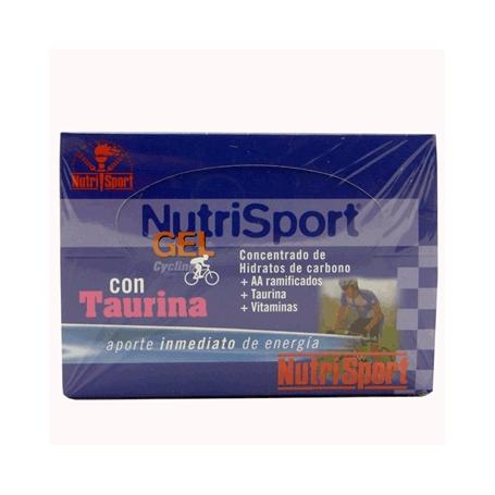 GEL TAURINA MANZANA CYCLING 40g NUTRI SPORT Nutrición Deportiva 1,35€