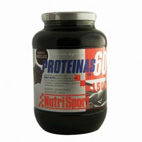 PROTEINAS 60 CHOCO 1,5kg NUTRI SPORT Nutrición Deportiva 46,27€