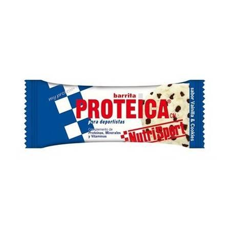 BAR. PROTEICA VAINILLA COOKIES 24ud NUTRI SPORT Nutrición Deportiva 31,44€