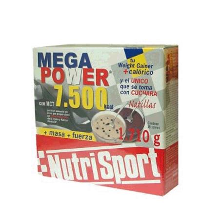 MEGAPOWER 7500 NATILLAS CHOCO 15sb NUTRI SPORT