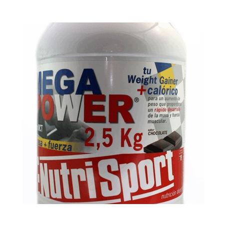 MEGAPOWER CHOCO 2,5kg NUTRI SPORT Nutrición Deportiva 45,00€