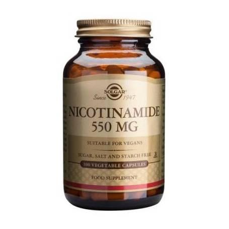 NICOTINAMIDA 550mg 100cap SOLGAR Plantas Medicinales 14,57€