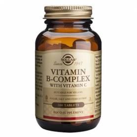 VITAMINA B COMPLEX CON VITAMINA C 100comp SOLGAR Suplementos nutricionales 17,17€