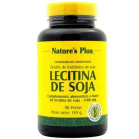LECITINA SOJA PERLAS 1200M 90perl NATURE'S PLUS Suplementos nutricionales 11,96€