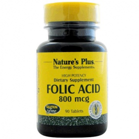 ACIDO FOLICO 800MG 90comp NATURE'S PLUS Ácido Fólico 7,61 €