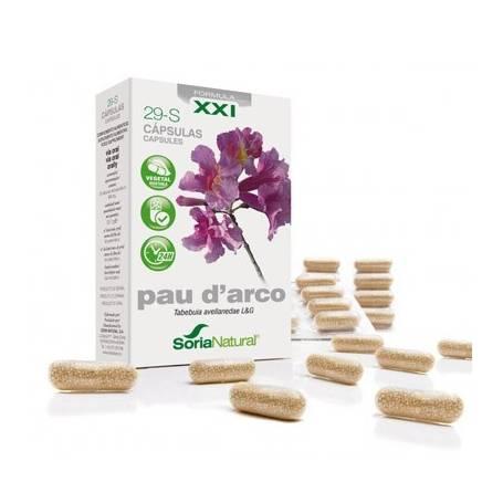 29-S PAU D'ARCO Fórmula XXI 30cap SORIA NATURAL Suplementos nutricionales 11,69€