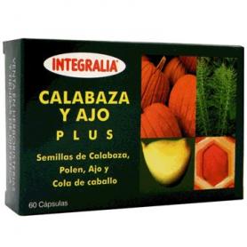 CALABAZA Y AJO PLUS 60cap INTEGRALIA Plantas Medicinales 13,83€