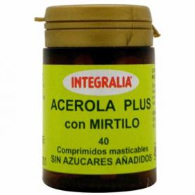 ACEROLA PLUS CON MIRTILO 40comp INTEGRALIA Plantas Medicinales 6,61€