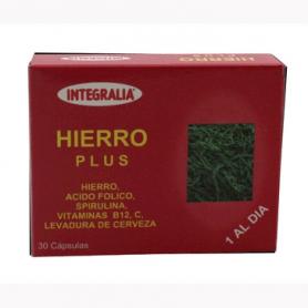 HIERRO PLUS 30cap INTEGRALIA Suplementos nutricionales 6,48€