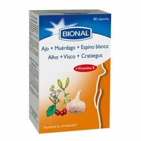 AJO MUERDAGO ESPINO BLANCO 80cap BIONAL Plantas Medicinales 17,08€