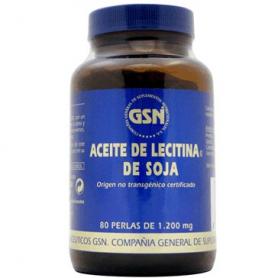 LECITINA SOJA PERLAS 1200MG 80perl GSN Suplementos nutricionales 9,79€
