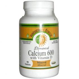 CALCIO VIT. D 600MG 90comp NUTRI-FORCE Suplementos nutricionales 9,48€