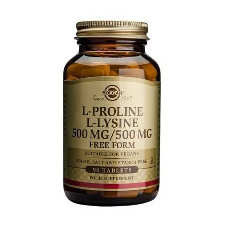 L-PROLINA / L-LISINA 500mg 90comp SOLGAR Plantas Medicinales 38,21€