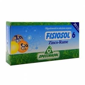 FISIOSOL 6 ZINC COBRE 20amp SPECCHIASOL Suplementos nutricionales 12,02€