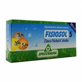 FISIOSOL 5 ZINC/ NIQUEL/ COBALTO 20amp SPECCHIASOL