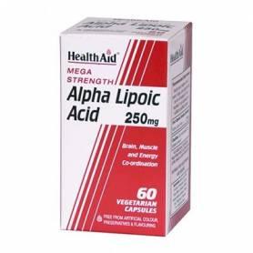 ACIDO ALFA LIPOICO 250mg 60cap HEALTH AID Suplementos nutricionales 45,85€