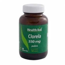 CLORELLA 550mg 60comp HEALTH AID Plantas Medicinales 19,86€