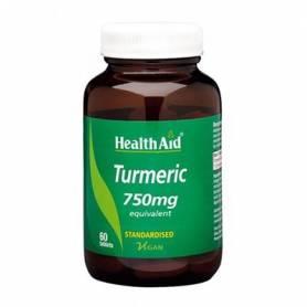 CURCUMA 750mg 60comp HEALTH AID Plantas Medicinales 22,93€